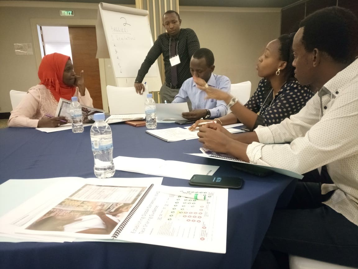 Members of APPOR work together to develop an advocacy plan