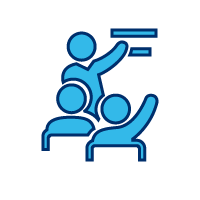 Icon of a person training others