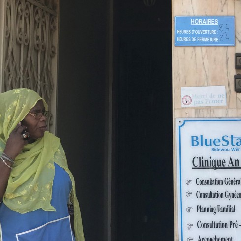 Ndieng outside her clinic in Senegal.