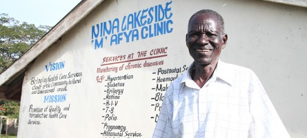 Man standing in front of a clinic